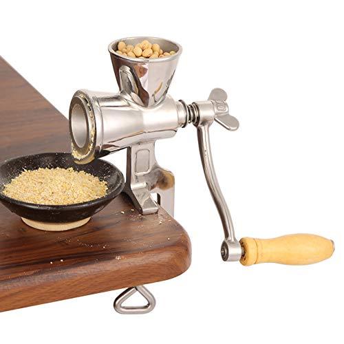 Dengofng Macinacaffè a manovella,Manuale per uso domestico Grinder Grinder Frumento Grinder Grinder in acciaio inox Fagioli riso smerigliatrice farina rettifica con morsetto da tavolo