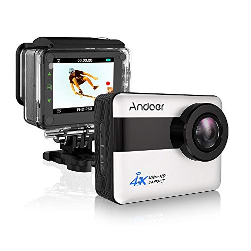 Andoer AN1 4K WiFi Sports Action Camera 1080P Full HD 20MP 5X Zoom Waterproof Camcorder 2.31inch Touch Screen 170° Wide Angle