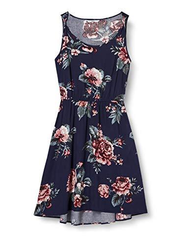 ONLY Damen Onlnova Life S/l Sara AOP WVN Dress Kleid, Rose Flower Night Sky, 38