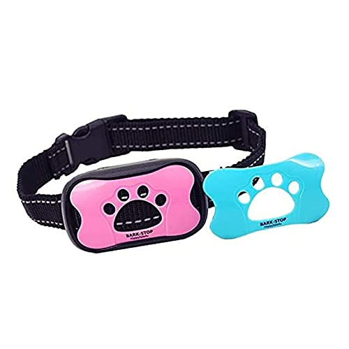 STBAAS Cuello de Entrenamiento de Perros, Collar de Corteza de Perro Anti Bark Cuello Cuello Dispositivo Entrenamiento Vibración y Sonido Safe Humane