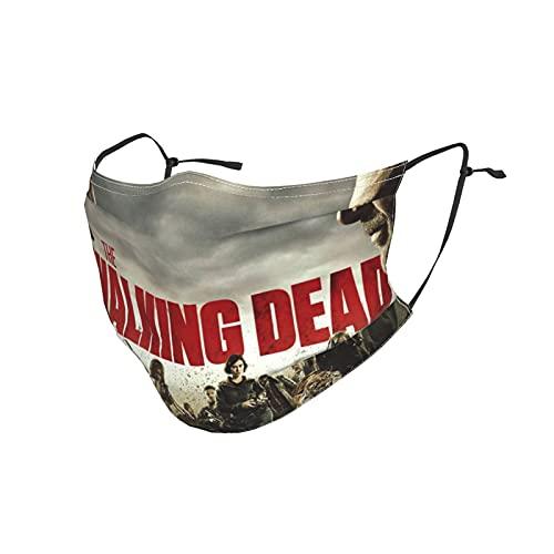 Walking Dead Máscara facial a prueba de polvo para mujer y hombre, pendientes ajustables, máscara facial a prueba de viento, pasamontañas