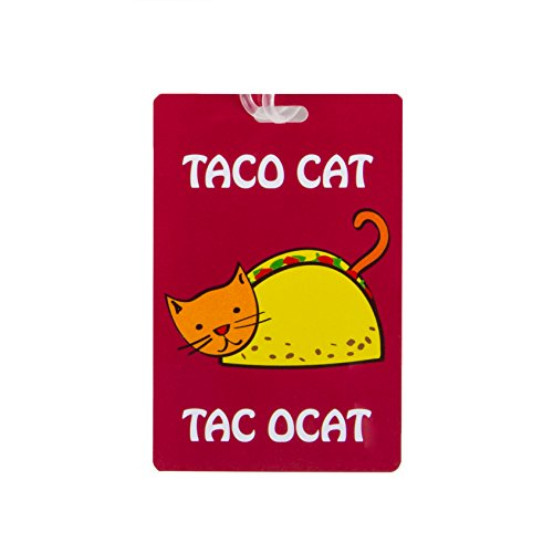 Travelon Personal Expression Luggage Tag,Taco Cat