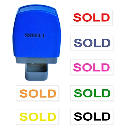 SSEELL Sold Self Inking Rubber Flash Stamp Self-Inking Pre-Inked RE-inkable Office Work Company School Stationary Stamps Without Frame Line - Red Ink Color