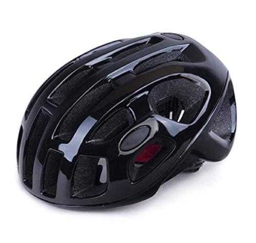 YFOZCOM Fahrradhelm, Unisex Schutzhelm Helm, Sicherheit Im Freien Superleichter Verstellbarer Radhelm, Schwarz, Größe 57-61