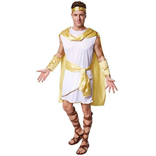 dressforfun Costume da uomo - Imperatore Augusto | Tunica nello stille dell'antica Roma | incl. Mantello applicato e cintura (S | no. 300338)