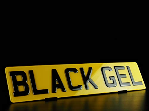 Pair Black Gel 3D Regestration Number Plates