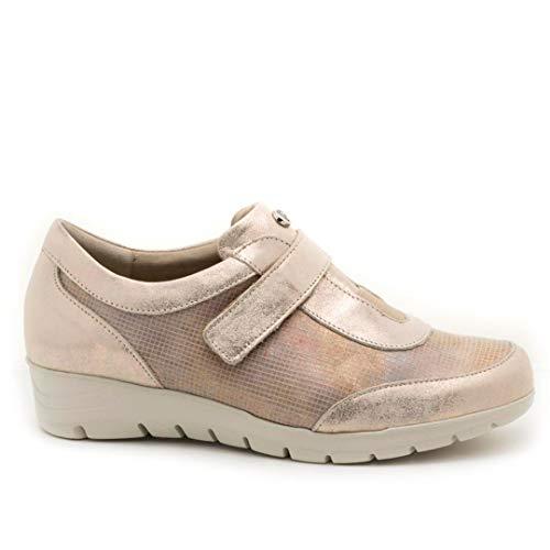 pitillos Zapato Sport de Piel Dorado