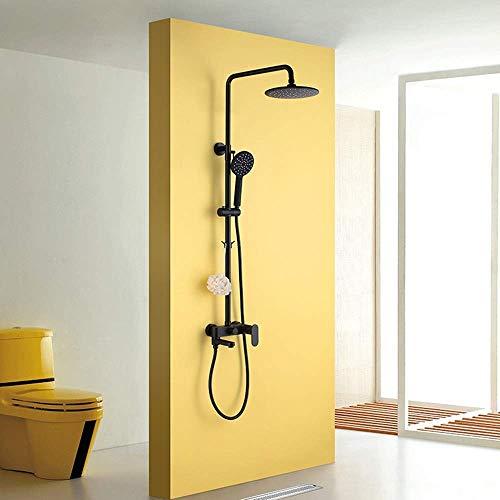 KANJJ-YU Ducha Baño Booster juego de ducha de cobre grifo de la ducha con el levantamiento de ducha Sanitarios Hermosa práctica Cromo