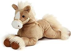 """GUND Fanning Palomino Horse Laying Down Stuffed Animal Plush, Tan, 12\\"""""""