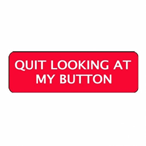 """Larocks""""Quit Looking At My Button"""" Clown Badges"""