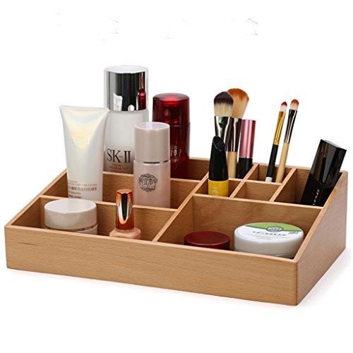 Boîte de rangement en bois pour cosmétiques Creative Boîte de rangement pour grande capacité Boîtes de finition multifonctionnelles (taille : A)