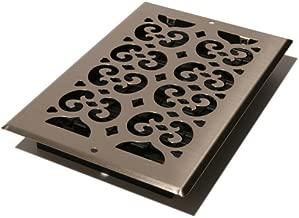 Decor Grates SP610W-NKL Floor Register, 6 x 10-Inch, Brushed Nickel