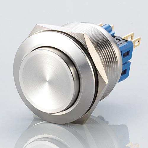 Gewölbter Edelstahl-Taster - Einbaudurchmesser Ø 25 mm (Ohne LED)