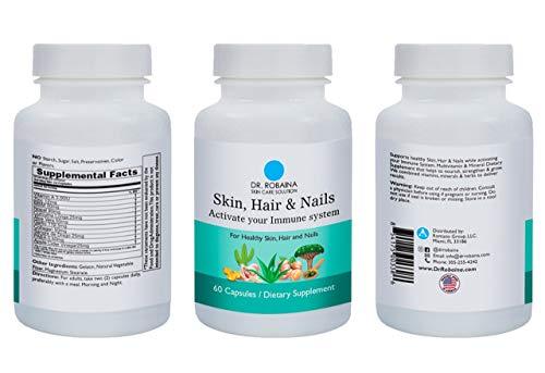 Dr. Robaina Skin Care Solution Vitamins and Supplements Skin, Hair & Nails...