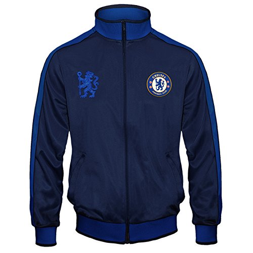 Chelsea Football Club Official Soccer Gift Mens Retro Track Top Jacket Large