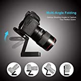 Z Type Foldable Desktop Stand Holder Tripod Flex Pan&Tilt with Ball Head Compatible Slide Rail Camera Camcorder Tripod with 1/4' and 3/8' Thread for Canon Nikon Sony Pentax