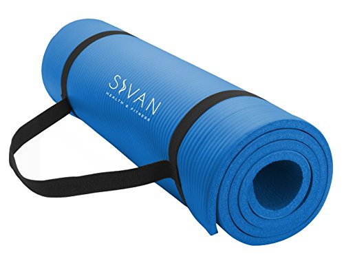 Sivan Health and Fitness 1/2-InchExtra Thick 71-Inch Long NBR Comfort Foam Yoga Mat