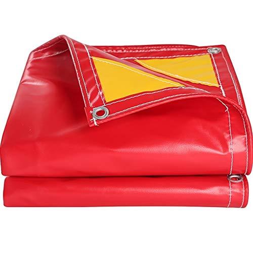 Toldo toldo Lona de la Cubierta a Prueba de Agua Carpa Grande for Lona Cubierta de embarcación RV o Piscina (Color : Red, Size : 6.6X9.9FT/2x3M)