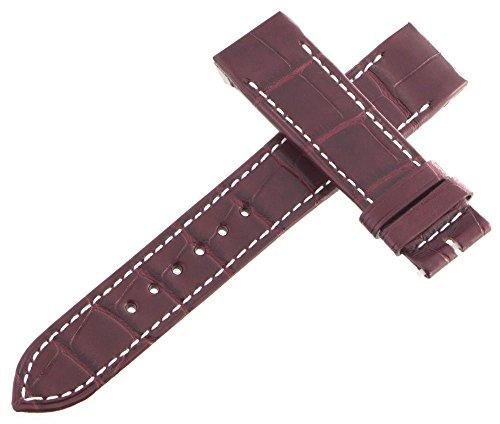 Jaeger Lecoultre Reverso OEM Maroon Alligatore pelle Watch cinturino 18mm...