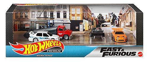 """ホットウィール プレミアム コレクターセット""""Fast & Furious"""" トヨタ スープラ(1台) ダッジ チャージャーR/T(1台) フォルクス・ワーゲン ジェッタ MKIII(1台) トランスポーター(1台) 986B-GMH39"""
