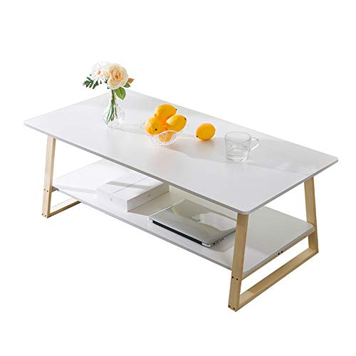 jklj Living Room Coffee Table Side Table Sofa Side Tables Cocktail Space Saving Organizer Coffee Table For Living Room Tea Table With Storage Shelf Can Be Used to Put Teacup Snack Magazines