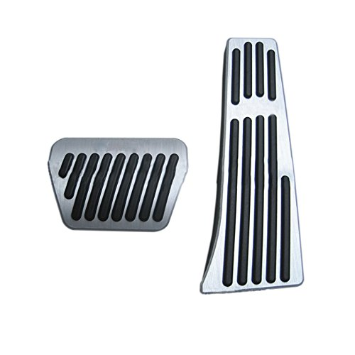 Pedale Für B M W X1 E30 E36 E87 E46 E90 E91 E92 E93 Fußstütze Auto Kein Bohren Aluminium Bremse Gaspedal Pedalkappen Rutschfeste Pedal Automatikg (AT) 2 Tabletten