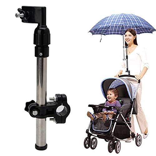Baby Stroller Umbrella Clamp, 360° Adjustable Umbrella Stand, Outdoor Beach Fishing Umbrella Mount Holder, Clip Umbrella Holder for Bike, Chair, Stroller, Pram, Wheelchairs