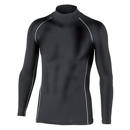 おたふく手袋 ボディタフネス 保温 コンプレッション パワーストレッチ 長袖 ハイネックシャツ JW-170 ブラック L