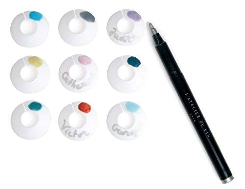 L'Atelier du Vin 095203-2 Chic Glass Palette avec Un Stylo-feutre
