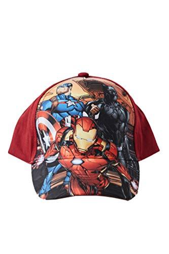 Marvel-Avengers Infinity War Baseball Kappy, Kappe aus 100% Baumwolle, Iron Man, Black Panther und Captain America Motiv für Kinder, Jungen und Mädchen (52, Rot)
