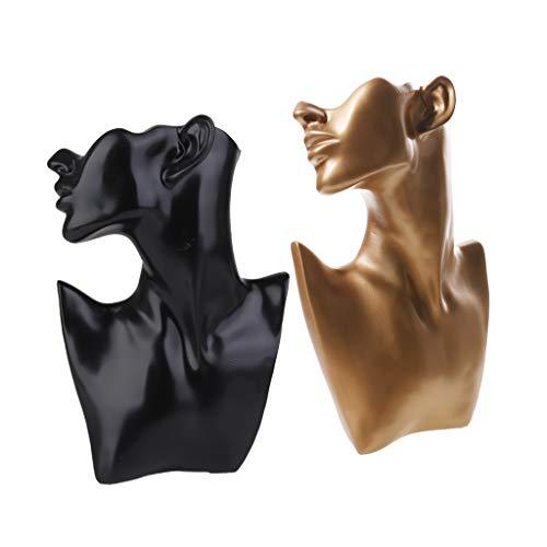 harayaa Pendiente de Cadena Pendiente del Collar de La Exhibición de La Resina 2pcs Cuelga