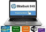 HP EliteBook 840 G3 Business Laptop, 14' Anti-Glare FHD (1920x1080) Touch Screen, Intel Core i5-6200U, 16GB DDR4, 240GB SSD, Webcam, Fingerprint Reader, Windows 10 Pro (Renewed)