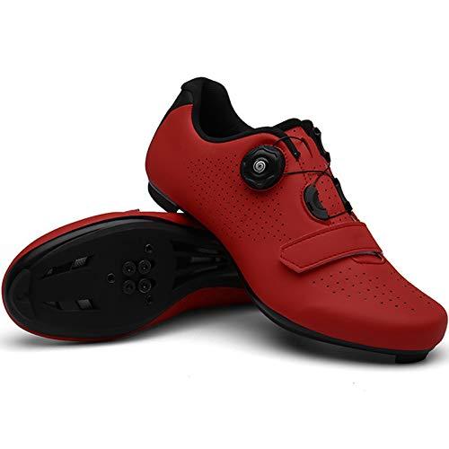 YQSHOES Zapatillas Ciclismo Carretera para Hombre Zapatillas Bicicleta Compatibles con Calas SPD y Delta,A,47U/11UK/11.5US