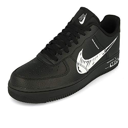 Nike CW7581-001, Sneaker Hombre, Negro/Blanco, 43 EU