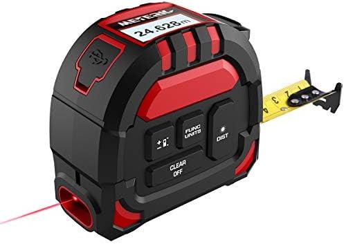 Meterk Laser Tape Measure 2 in 1 Laser Measure 131 2Ft 40M Measuring Tape 16 5Ft 5M Multifunctional product image