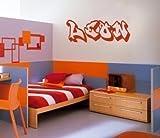 Wall Art Desire Sticker mural coloré en vinyle avec prénom graffiti pour chambre à...