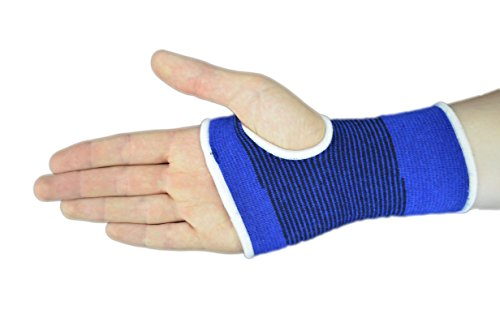 Praxis Blue Palm Hand Wrist Thumb Support A pair of Lightweight Breathable Compression Bandage Pain Relief Comfortable SMALL