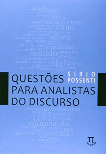 Questões Para Analistas do Discurso