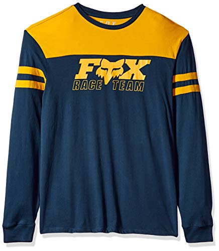 Fox Herren Race Team Long Sleeve Airline Premium T-Shirt, Navy2, Klein