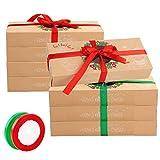 12 cajas de regalo navidad, cajas papel caramelo juego decorativa cajas de...