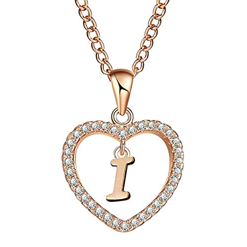 HINK Fashion Women Gift 26 English Letter Name Chain Pendant Necklaces Jewelry I Jewelry & Watches Earrings For Woman Easter Gift