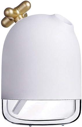 Wink zone 280ML加湿器テーブルアロマ加湿器超音波加湿器アロマディフューザー小型殺菌空気清浄機超静音LEDライト間接照明アンチドライ時間設定室内オフィス干渉花粉症対策 (Color : Gold)