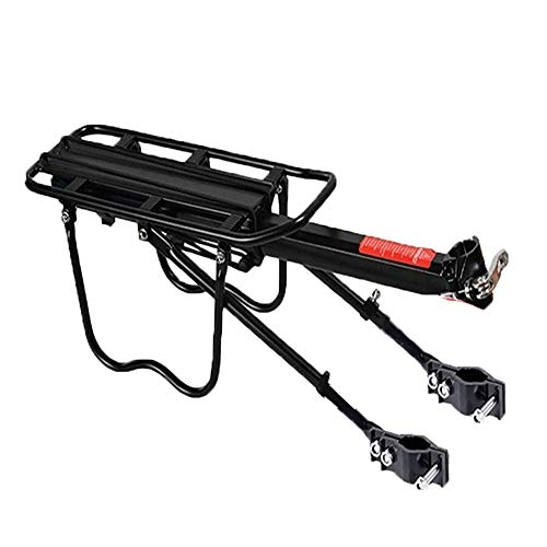 MiOYOOW Bike Cargo Rack, 110 lbs Capacity Rear Bike Rack with Fender Tail Light Quick Release for 26'-29' Frames
