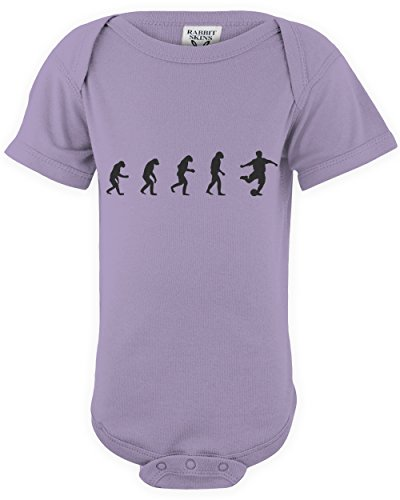 ShirtLoco Baby Evolution Of Man To Soccer Player Infant Bodysuit, Lavender 24 Months