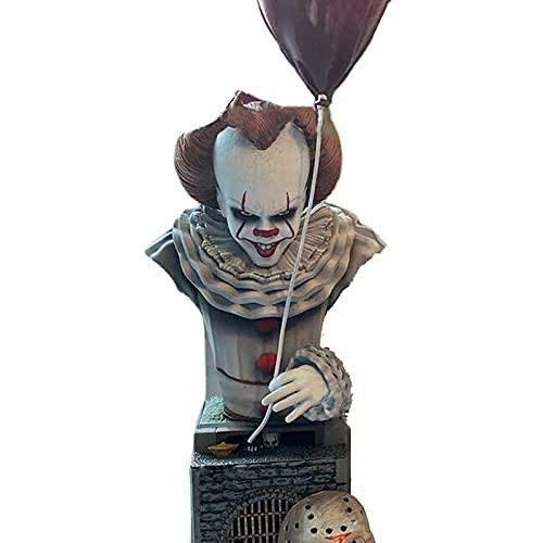 HOUHOUYIBA Figura de Asesino de película de Terror, gnomo de Terror de Pesadilla de Halloween, estatuas de gnomo de jardín de Asesino de Pesadilla (Pennyw)