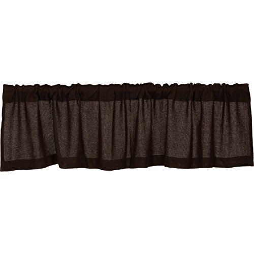 Chocolate Burlap Valance
