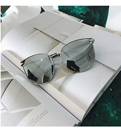 jiao Neue übergroße Sonnenbrille für Frauen SquareSonnenbrillen Damen Spiegelgläser Mode Designer-Sonnenbrillefür DamenSol UV400 C02