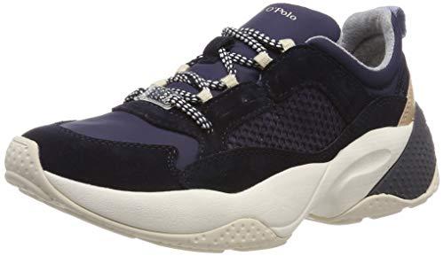 Marc O'Polo Damen Sneaker, Navy, 37 EU