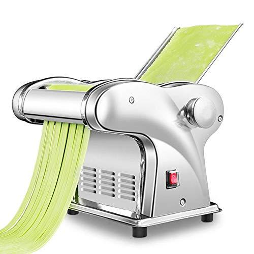 CGOLDENWALL Máquina de Pasta Semiautomático de Acero Inoxidable Máquina de Rodillos para Lasagna Ravioli Spaghetti Fettuccine (JCD-6 - Cuchilla Fina de 1.5mm, Plana de 4mm)