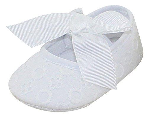 Avitalk Zapatos de Bebé Recién Nacido de Primeros Pasos infantil Para Niña con Bowknot Lindo Mono Fondo Suave Transpirabe Para Fiesta Boda Bautismo